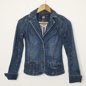 3/20$ Denim |Dark Wash Button Front Jean Jacket XS
